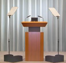 Podium and Presidential Teleprompter unit - two panels