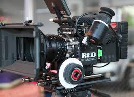 Red Dragon Camera on tripod with matte box at AmericanMovieCo.com