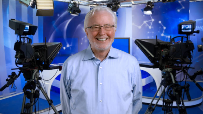 Bill Milling with silver hair and glasses at TeleprompterRental.com