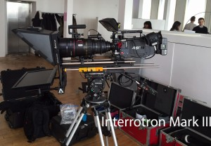Interroton Mark III setup on set - people in background