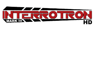 Black and red logo for the Interrotron Mark III HD