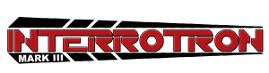 Logo for the Interrotron Mark III HD balck with red letters