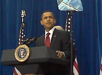 Teleprompters and President Obama:  A Perfect Match.