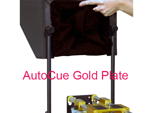 AutoCue Gold Plate device with caption AutoCue Gold Plate
