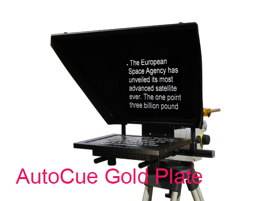 AutoCue Gold Plate device full frontal view