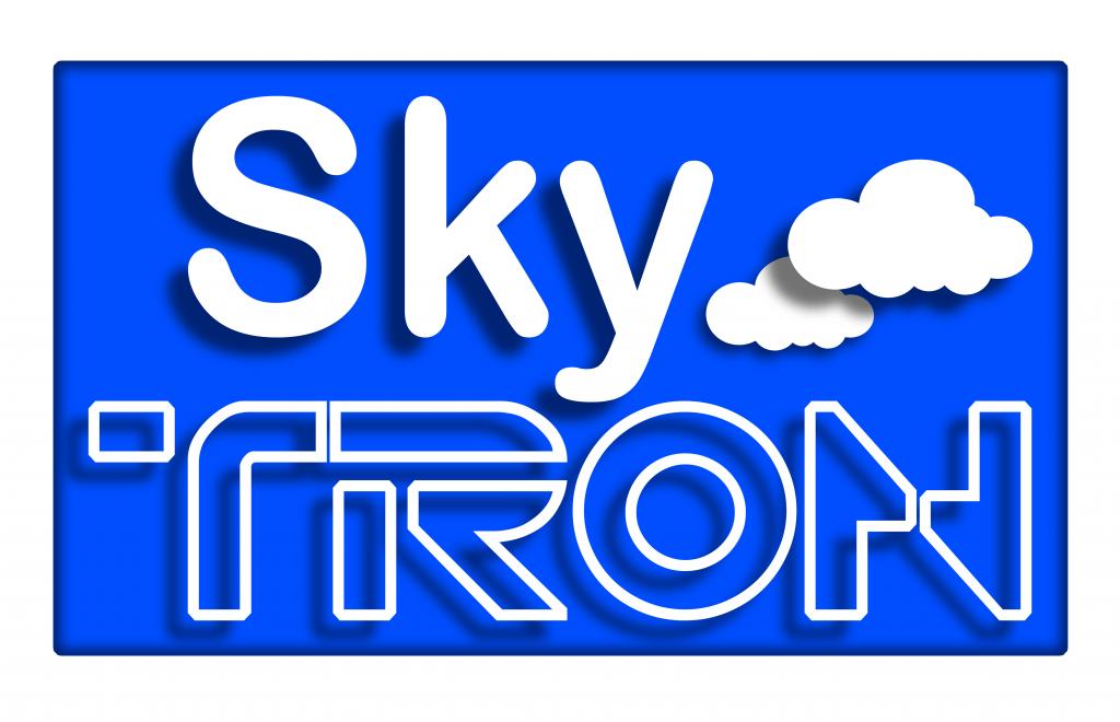 SkyTron Rental - Blue & White SkyTron Logo