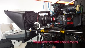 Teleprompter Rental - Teleprompter on Tripod with Alexa