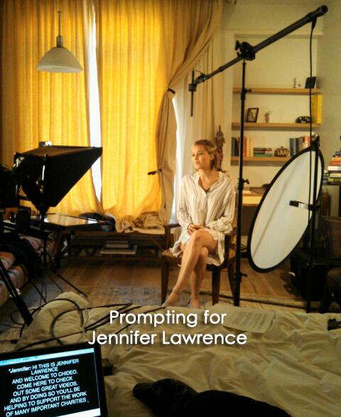 Teleprompting for Jennifer Lawrence at Teleprompterrental.com