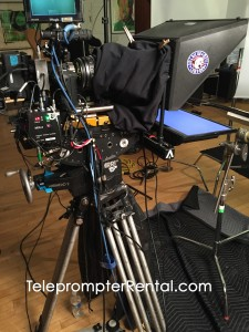 Autocue Gold Plate professional Teleprompter at TeleprompterRental.com