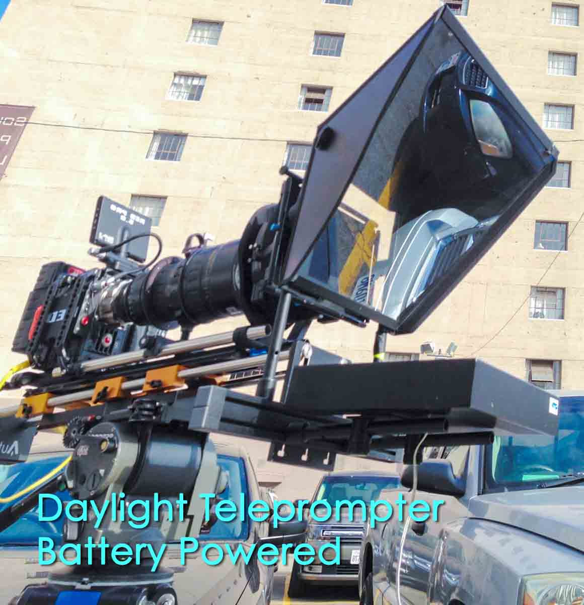Daylight Teleprompter Battery Powered