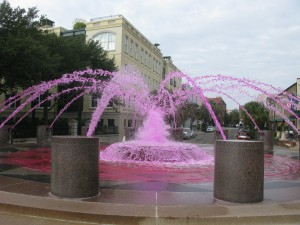 Savannah Fountain in Pink by Carol Groenen