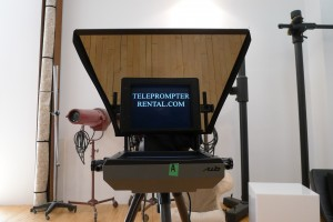 Front view of prompter