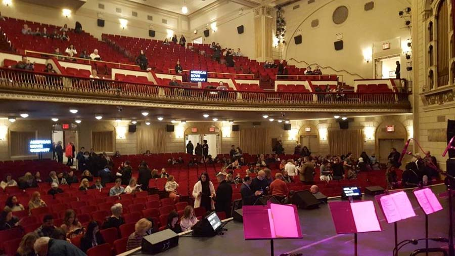 Carnegie Hall interior - people in their seats