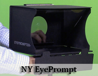 NY EyePrompt unit - green background.