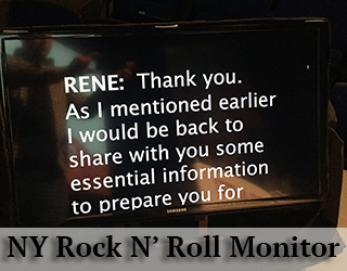 NY Rock N' Roll Monitor - copy on screen