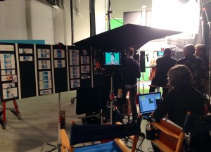 Teleprompter on Set for Nasacort commercial