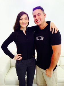 Michael Gonzalez with the star of the LG commercial, Mina Marie Mirkah
