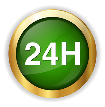 24H logo - green with gold rim