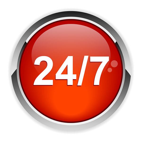 24/7 red logo, silver rim