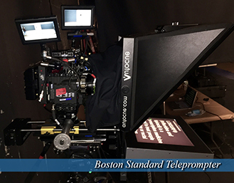 Boston Standard Teleprompter - text visible on screen