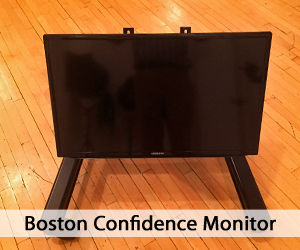 Boston Confidence Monitor on wooden floor