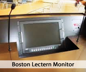Boston Lectern Monitor (hidden from view)