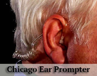 Close up of man's ear - Ear Prompter - Chicago