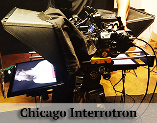 Interrotron unit on set - Chicago