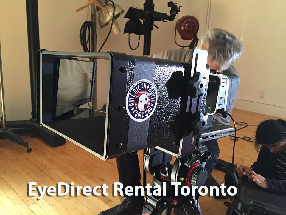 EyeDirect Mark II Rental Toronto at TeleprompterRental.com office
