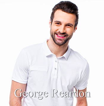 George Reardon, smiling young man with polo shirt.