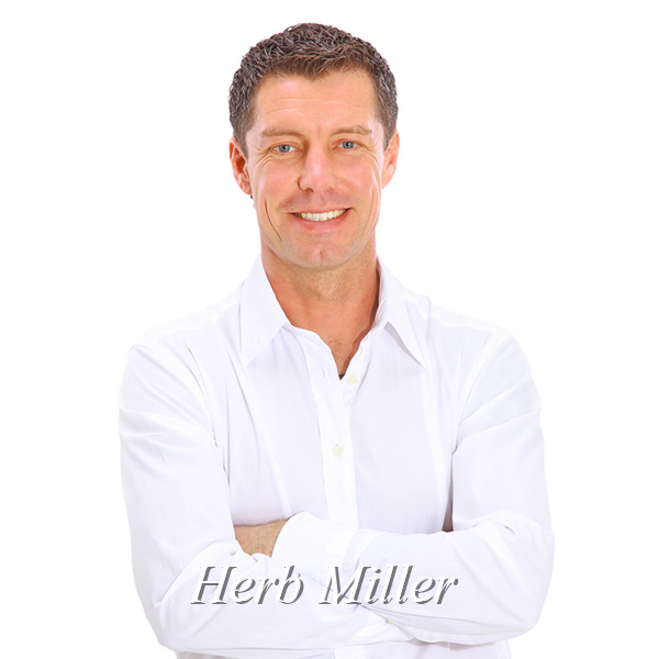 Herb Miller, young man, white shirt, arms crossed