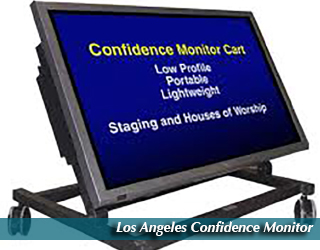 Los Angeles Confidence Monitor - copy on the screen