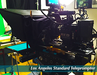 Los Angeles Standard Teleprompter set up in the studio