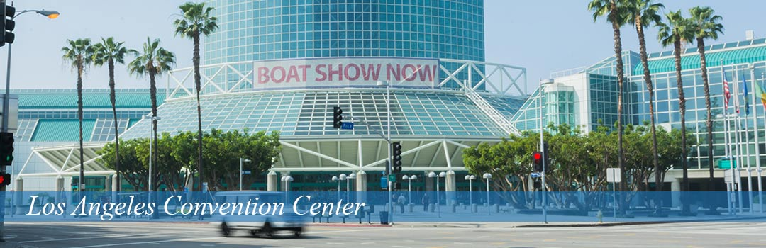 Los Angeles Convention Center - Boat Show Now in background