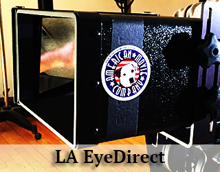 EyeDirect - LA - AMC logo on its side
