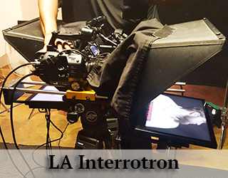 LA Interrotron on set