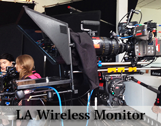 Wireless Monitor LA - in studio - people in background