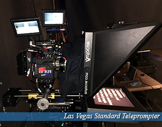 Las Vegas Standard Teleprompter unit on set with cameras