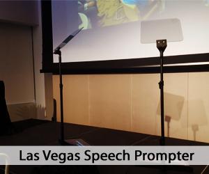 Las Vegas Speech Prompter aka Presidential Teleprompter setup