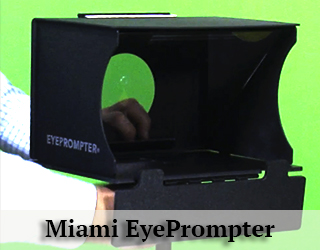 Miami EyePrompter- green background