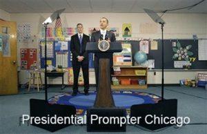 PresidentObama at Presidential Teleprompter Chicago