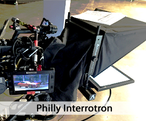 Interrotron setup on set - Philadelphia