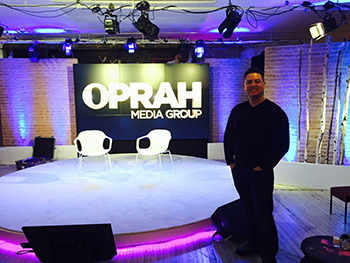 Oprah Media Group (background) - Michael Gonzalez in front