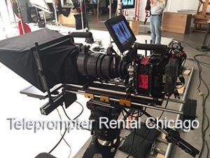 Teleprompter On Tripod with large camera