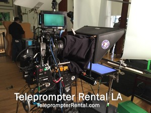 Teleprompter and camera TeleprompterRental.com