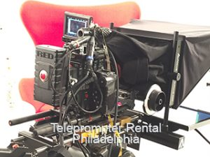 Prompter and Camera on Tripod