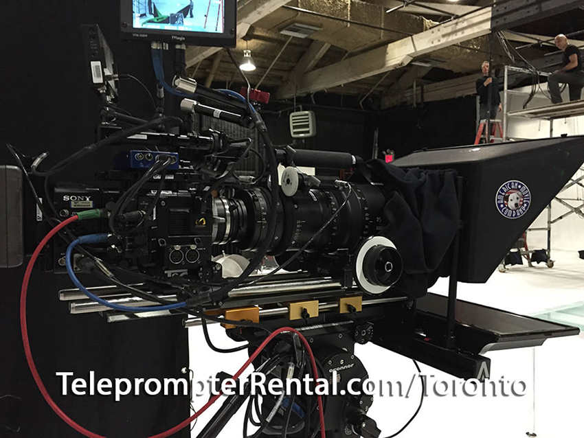 """TeleprompterRental.com professional 19"""" through the lens prompter."""