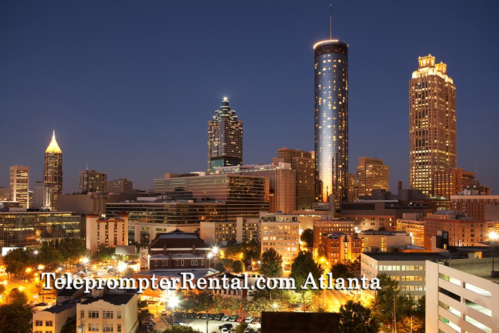 Skyline of Downtown Atlanta at sunset