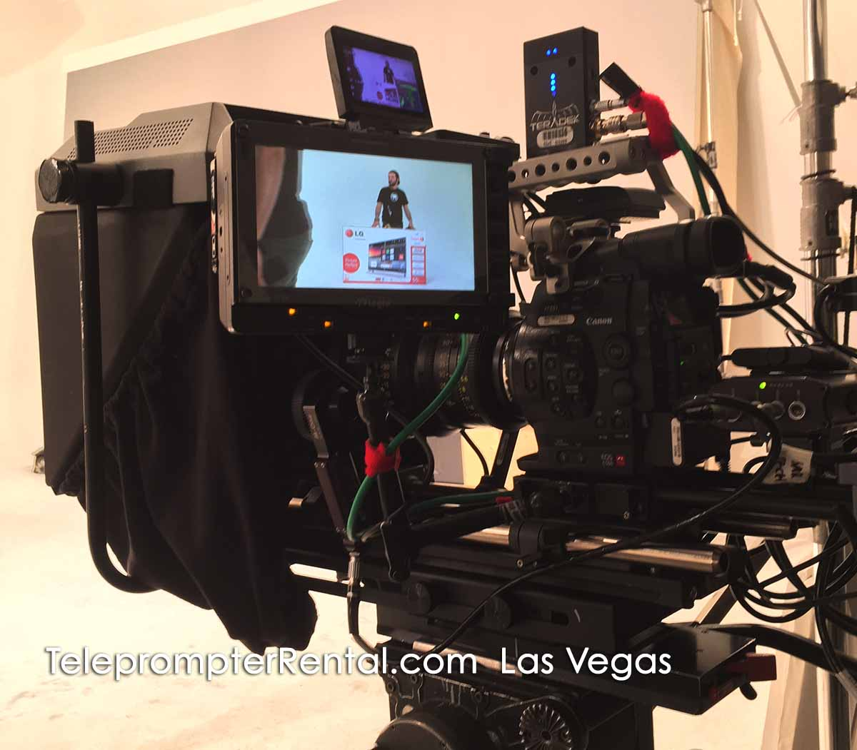 TeleprompterRental.com Las Vegas unit setup