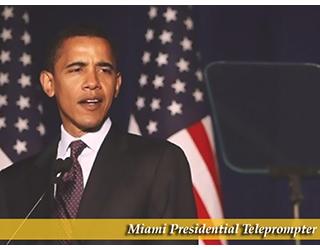 Miami Presidential Teleprompter (President Obama)